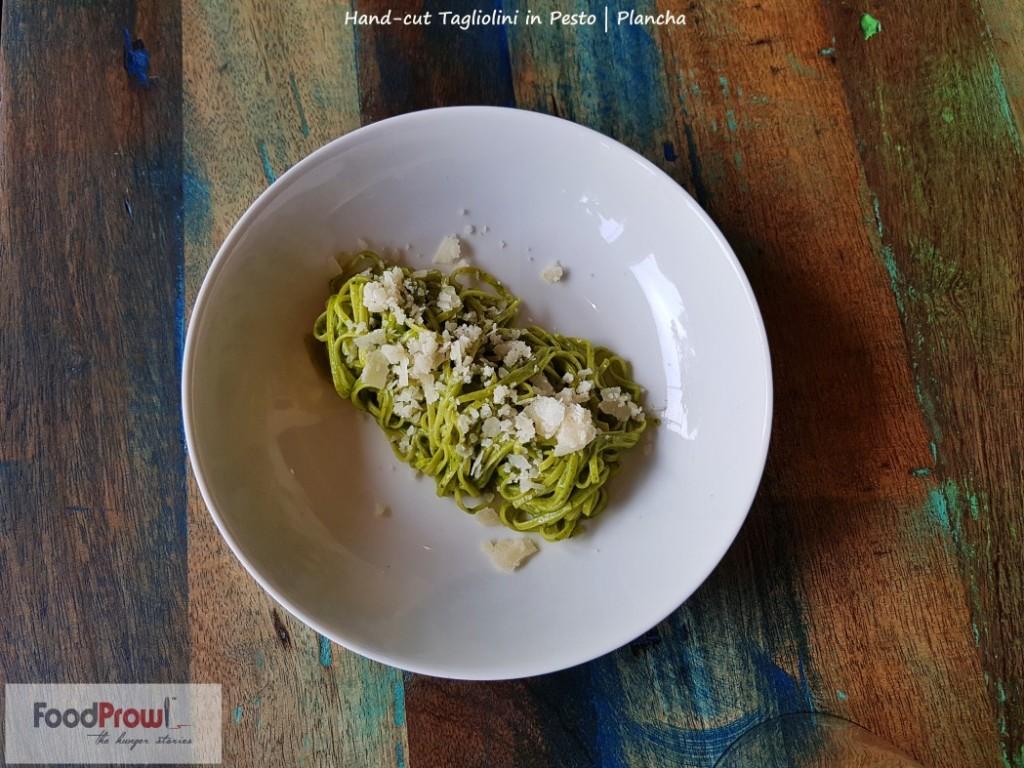 13 - Hand cut tagliolini in pesto